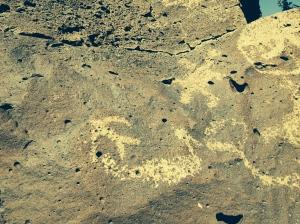 petroglyph at La Ceinguilla